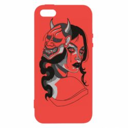 Чохол для iphone 5/5S/SE Girl with mask