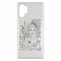 Чохол для Samsung Note 10 Plus Girl with threads