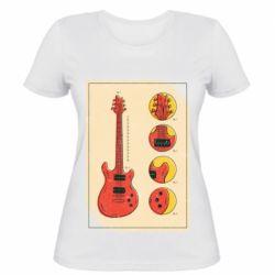 Жіноча футболка Гітара