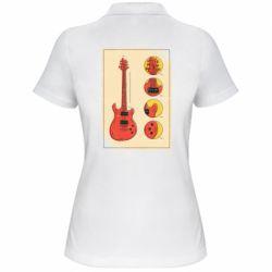 Жіноча футболка поло Гітара