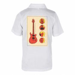 Дитяча футболка поло Гітара