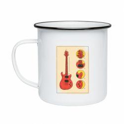 Кружка емальована Гітара