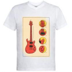 Чоловіча футболка з V-подібним вирізом Гітара