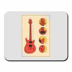 Килимок для миші Гітара