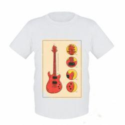 Дитяча футболка Гітара
