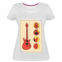 Жіноча стрейчева футболка Гітара