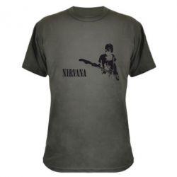 Камуфляжная футболка Гитарист Nirvana - FatLine