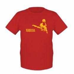Детская футболка Гитарист Nirvana