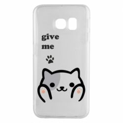 Чохол для Samsung S6 EDGE Give me cat