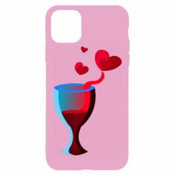 Чехол для iPhone 11 Pro Max Glass of wine and hearts
