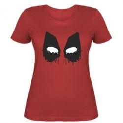 Женская футболка Глаза Deadpool - FatLine