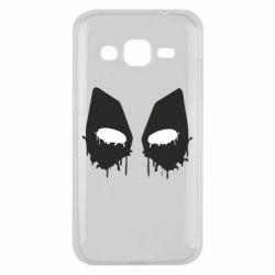 Чехол для Samsung J2 2015 Глаза Deadpool - FatLine
