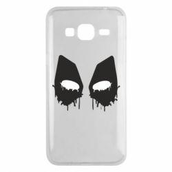 Чехол для Samsung J3 2016 Глаза Deadpool - FatLine