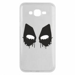 Чехол для Samsung J7 2015 Глаза Deadpool - FatLine