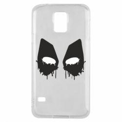 Чехол для Samsung S5 Глаза Deadpool - FatLine