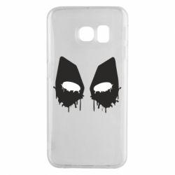 Чехол для Samsung S6 EDGE Глаза Deadpool - FatLine