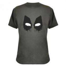 Камуфляжная футболка Глаза Deadpool - FatLine
