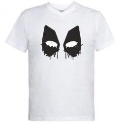 Мужская футболка  с V-образным вырезом Глаза Deadpool - FatLine