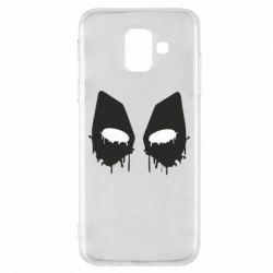 Чехол для Samsung A6 2018 Глаза Deadpool - FatLine