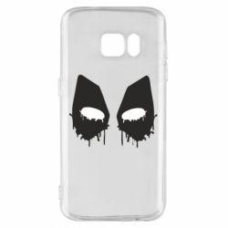 Чехол для Samsung S7 Глаза Deadpool - FatLine