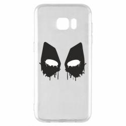 Чехол для Samsung S7 EDGE Глаза Deadpool - FatLine