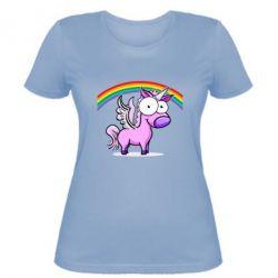 Женская футболка Глазастый единорог