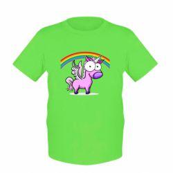 Детская футболка Глазастый единорог