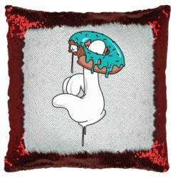 Подушка-хамелеон Glove and donut