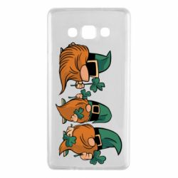 Чехол для Samsung A7 2015 Gnomes and clover
