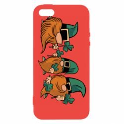 Чехол для iPhone5/5S/SE Gnomes and clover