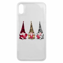 Чехол для iPhone Xs Max Gnomes with a heart