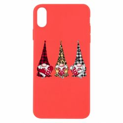 Чехол для iPhone X/Xs Gnomes with a heart