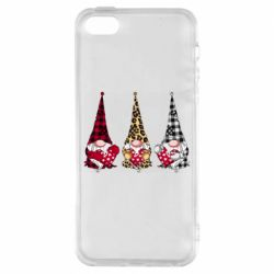 Чехол для iPhone5/5S/SE Gnomes with a heart
