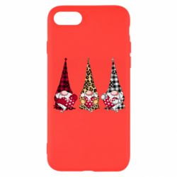 Чехол для iPhone 8 Gnomes with a heart