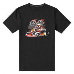 Мужская стрейчевая футболка Go Cart