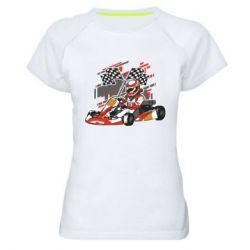Женская спортивная футболка Go Cart