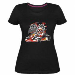 Женская стрейчевая футболка Go Cart