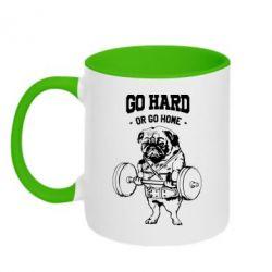 Кружка двухцветная Go hard or go home
