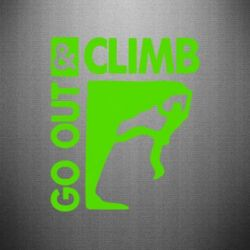 Наклейка Go out & Climb - FatLine