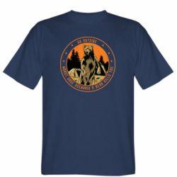 Чоловіча футболка Go outside worst case scenario a bear kills you