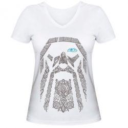 Купить Женская футболка с V-образным вырезом Go To War 2, FatLine