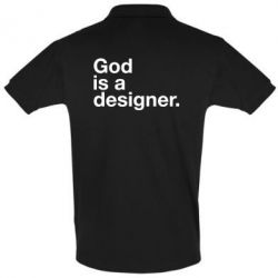Футболка Поло God is a designer
