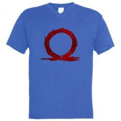 Чоловіча футболка з V-подібним вирізом God Of War Circle