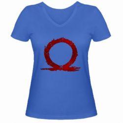 Жіноча футболка з V-подібним вирізом God Of War Circle