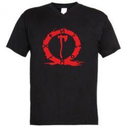 Чоловіча футболка з V-подібним вирізом God Of War Logo