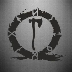 Наклейка God Of War Logo