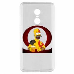 Чехол для Xiaomi Redmi Note 4x God of war: Simpson