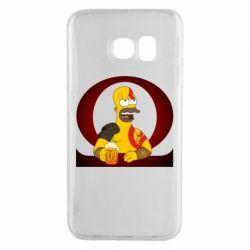 Чохол для Samsung S6 EDGE God of war: Simpson