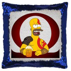 Подушка-хамелеон God of war: Simpson