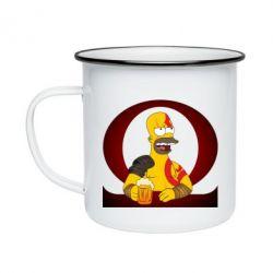 Кружка емальована God of war: Simpson